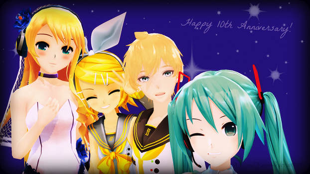 The VOCALOIDs of 2007 - Happy 10th Anniversary! by MisteryEevee