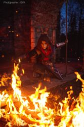 The Witcher 3 cosplay: Burn it (1) by RenShuher