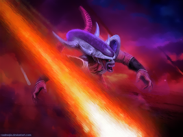 Frieza in his Third Form by raulmejia