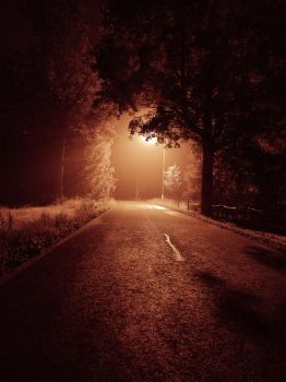 Night road by FrantisekSpurny