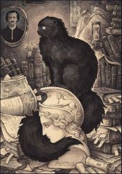 Cat Named Edgar Poe by Candra