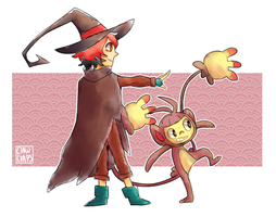 Witchsona and ambipom