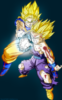 Father Son Kamehameha Colored by JamalC157