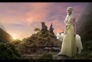 Lady and the Wolf by marcosnogueiracb
