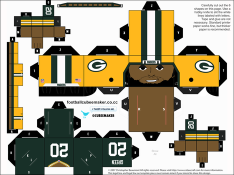 Alex Green Packers Cubee by etchings13