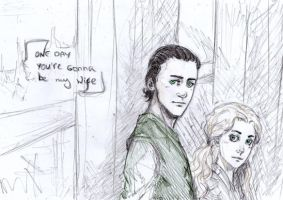 Loki and Sigyn by Sanzo-Sinclaire