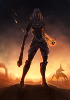 Tali'Zorah on Rannoch by Sathynae