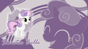 The Cutest one - Sweetie Belle Wallpaper by cradet