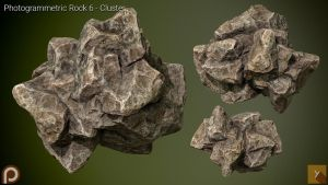 [Free] Photogrammetric Rock 6 - Cluster by Yughues