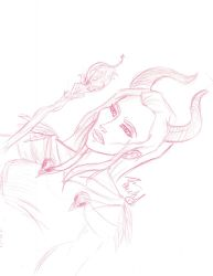 Maleficent -sketch by witchiamwill