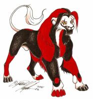 Ghede as a TLK lion by moonfeather