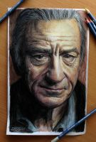 Robert de niro old drawing by AtomiccircuS