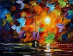 Lonely night by Leonid Afremov