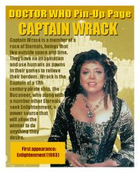 DOCTOR WHO Pin-Up Page 44: Captain Wrack by tyrannus1