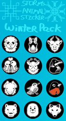 Animal Stickers Winter Pack by StormyGlaze