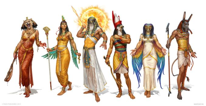 Egyptian Gods by KateMaxpaint