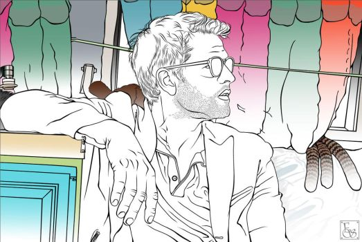 Stylized Vector - Misha Collins by EmmaEsme