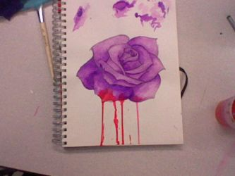 Tattoo Design (With blood on petals) by ShaolinShadowDragon