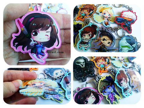 Overwatch Keychains by criis-chan