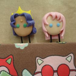 Utena and Anthy Paper Clips by bellakenobi