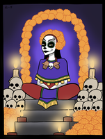 Queen of Mictlan by A-gnosis