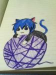 Neko Playing With Yarn by Bloodonmyhands25