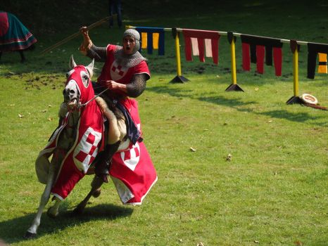 knight on a horse with a spear on attack by Nexu4