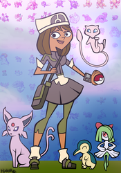 Courtney Pokemon Team by hielorei