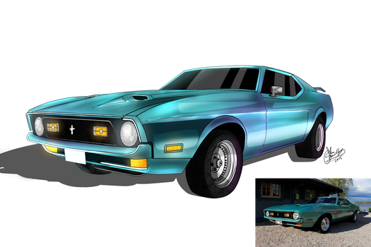 Ford Mustang by Tjibi