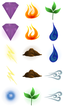 Dracca: element icons by DragonsTEQ