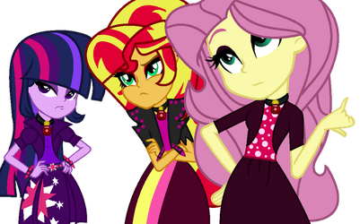 MLP The New Dazzlings So What Who Cares by SpeedPaintJayvee12