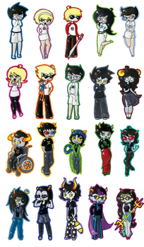 Homestuck Sticker Set by ScreamingLullabies