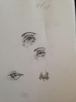 Sketch: individual facial features by 52HertzWhale