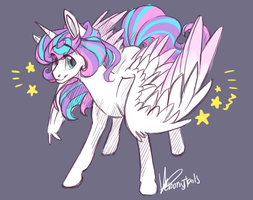 Adult Flurry Heart by EbonyTails