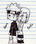 NaruSaku: Back To Back by wow1076