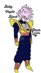 Baby Vegito Black (Baby Vegeta And Goku Black Fus) by TheRealGameHunterSM