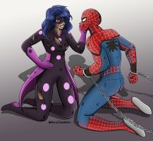 Spider-Man and Miss fortune by @MariejaneWorks by Nevillemadan007