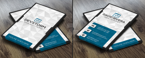 White Modern Business Card Template by GreyFoxGR