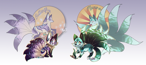 Kitsunes for Sale!// CLOSED by Belliko-art