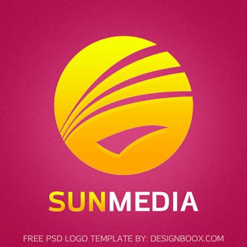 Sun Media PSD Logo Template by MansyDesignTools