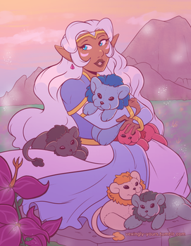 Allura and Plush Lions by Vexingly-Yours