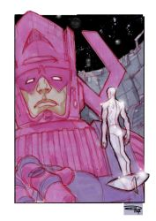 Silver Surfer and Galactus by DenisM79