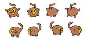 Mister Mystery Monkey Sprite Sheet by worldwhilecomics