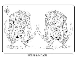 Skins and Moans Coloring page by AyameFataru