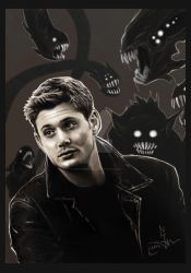 Dean  in the Darkness by LadyCerbero