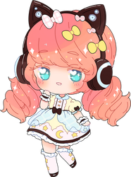 chibi commission for DreamySheep by Hacuubii