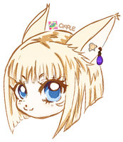 CHIBI HEADSHOT PAGEDOLL COMMISSION by Cipple