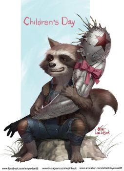 Rocket racoon's present of Children's day by inhyuklee
