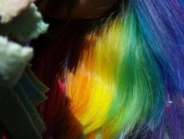 Rainbow hair in the sunlight by MeganYourFace