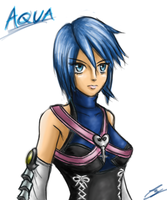 Aqua Kingdom hearts by borockman